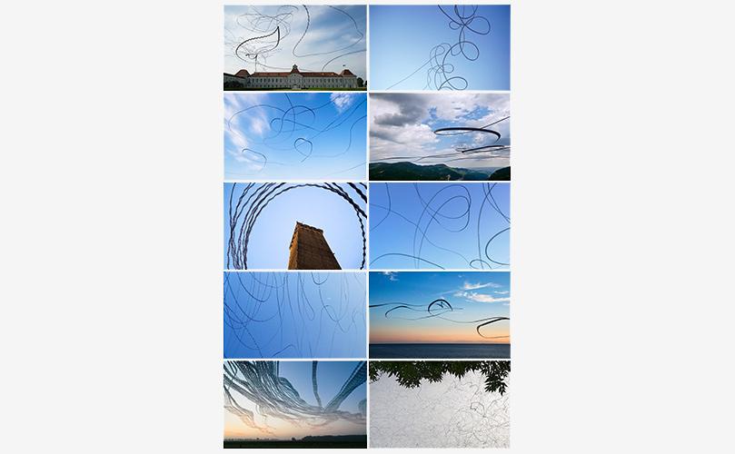 "Postkarten ""AIRLINES · Vogelspuren in der Luft"" · 10 Motive · 170 x 105 mm"
