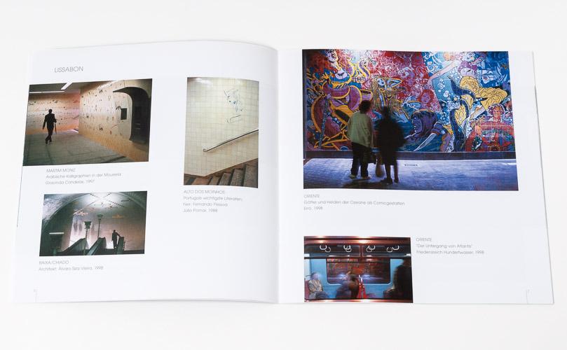 """Katalog """"KUNST - Die schönsten U- und S-Bahnhöfe in Europa"""" · Innen"""