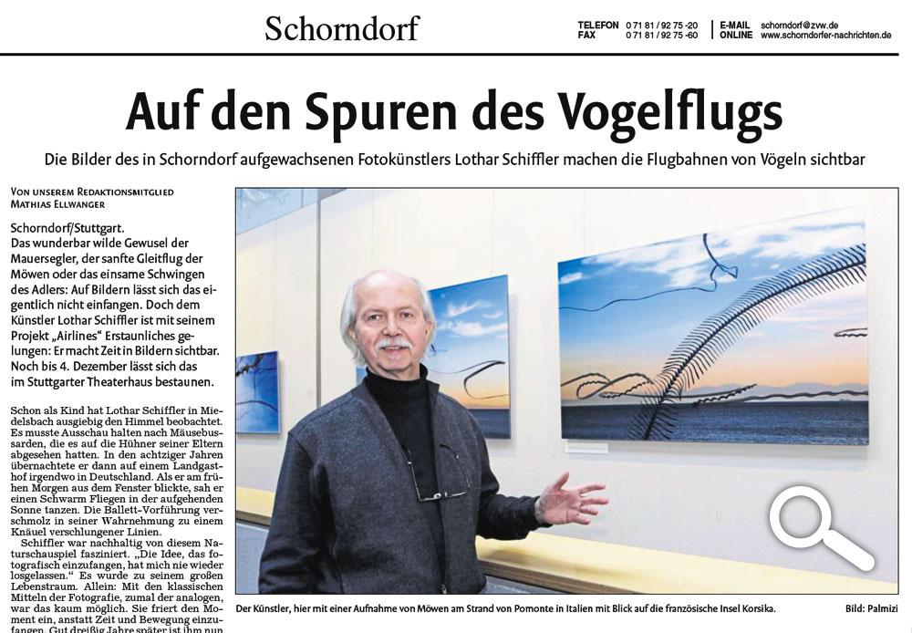 Auf den Spuren des Vogelflugs - Schorndorfer Nachrichten - 17.11.2016