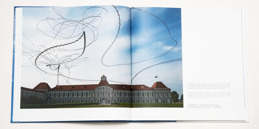 """Katalog """"AIRLINES · Vogelspuren in der Luft"""" · 4., erweiterte Auflage · Innen (Turmfalke und Rauchschwalben)"""