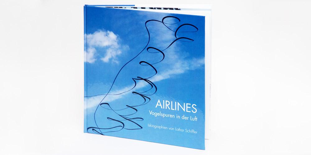 """Katalog """"AIRLINES · Vogelspuren in der Luft"""" · 4., erweiterte Auflage · Umschlag (Schwarzmilan)"""