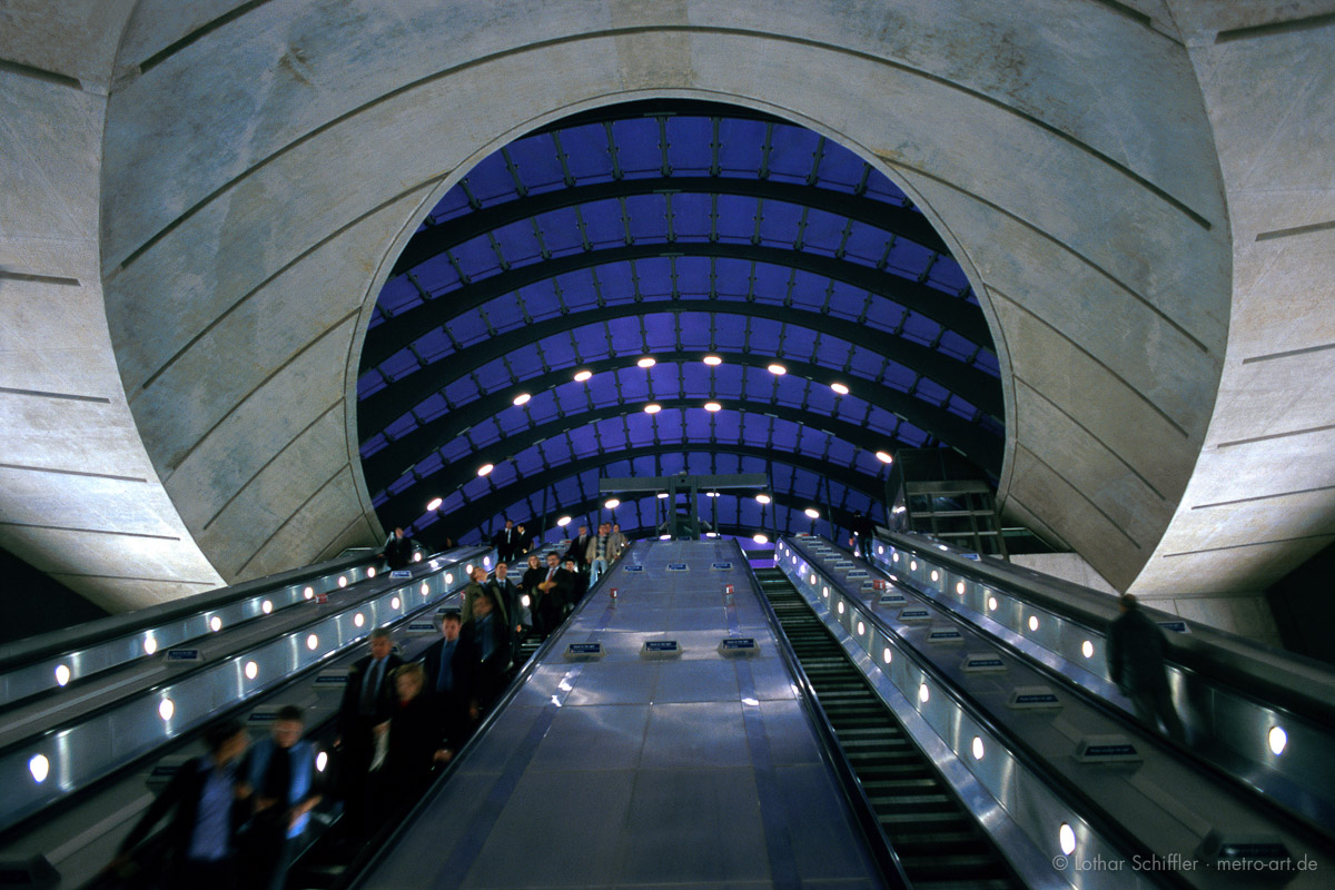 U-Bahnstation CANARY WHARF, London. Architekt: Norman Foster