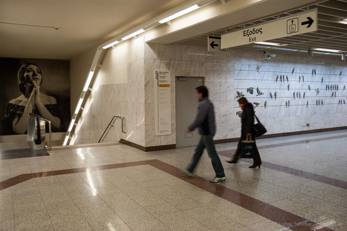 AttikoMetro, Station Megaro Moussikis, Athen, Griechenland, Europa
