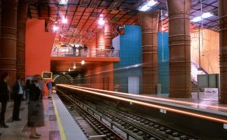 Metro-Station OLAIAS; Lissabon. Architekt, Künstler: Tomáz Taveira