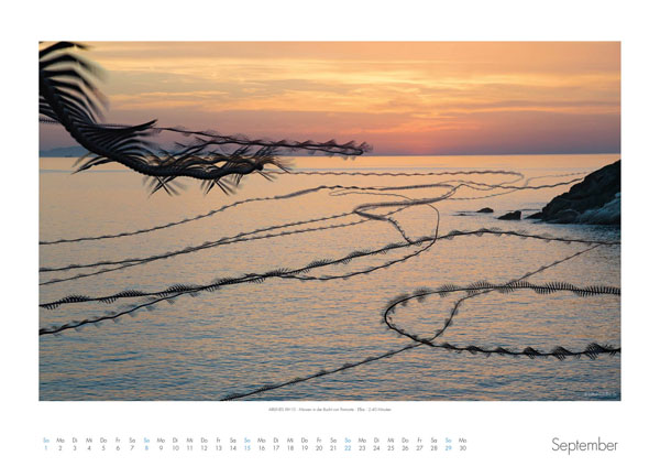 AIRLINES - Vogelspuren in der Luft - Iskiographien von Lothar Schiffler - Kalender 2019 DIN A2 quer - September