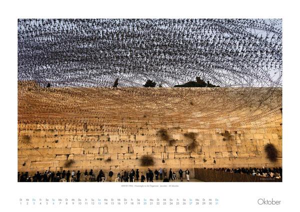 AIRLINES - Vogelspuren in der Luft - Iskiographien von Lothar Schiffler - Kalender 2019 DIN A2 quer - Oktober