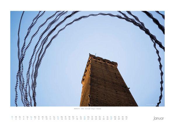 AIRLINES - Vogelspuren in der Luft - Iskiographien von Lothar Schiffler - Kalender 2019 DIN A2 quer - Januar