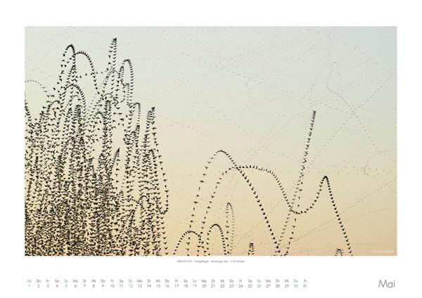 AIRLINES - Vogelspuren in der Luft - Iskiographien von Lothar Schiffler - Kalender 2019 DIN A2 quer - Mai