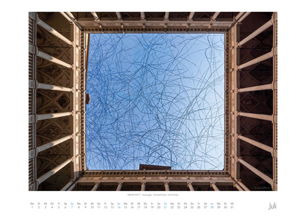 AIRLINES - Vogelspuren in der Luft - Iskiographien von Lothar Schiffler - Kalender 2019 DIN A2 quer - Juli