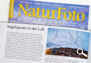 """Naturfoto, """"Vogelspuren in der Luft"""", Februar 2019, Hinweis auf Ausstellung im Haus der Natur, Feldberg, Südschwarzwald"""