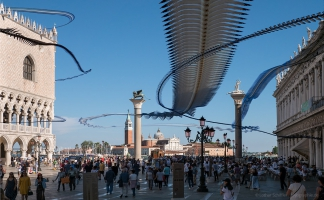 AIRLINES XIX-5 · Möwen und Tauben · Piazzetta di San Marco · Venedig · 48 Sekunden