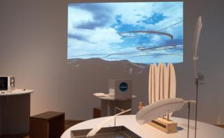 """""""AIRLINES - Vogelspuren in der Luft"""" in der Ausstellung im GEWERBEMUSEUM, Winterthur"""