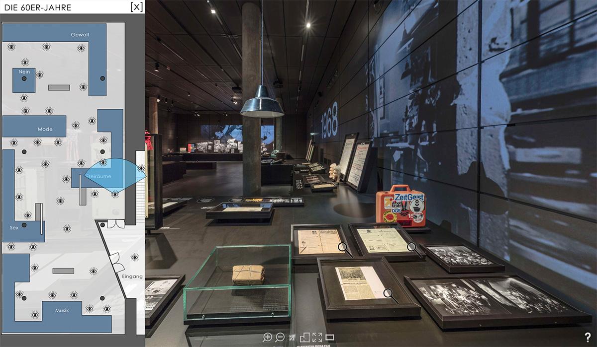 Virtueller Rundgang durch die Ausstellung (Screenshot)